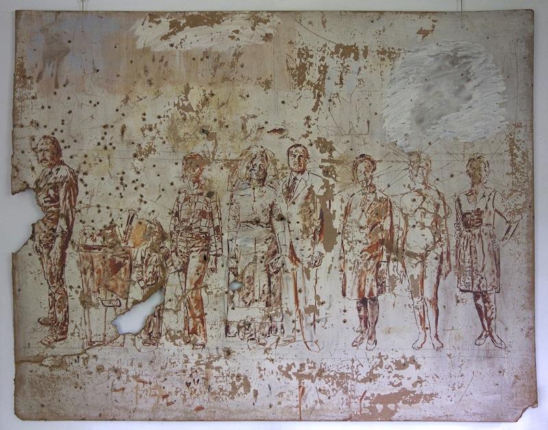 """""""zerstörter Entwurf Familienbild"""", 1977"""