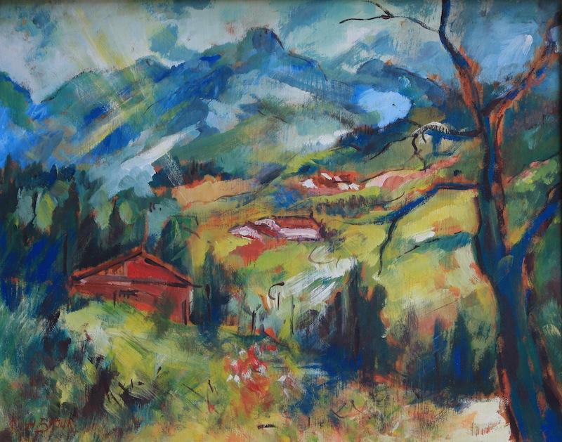 Landschaft Reit im Winkl, 1974