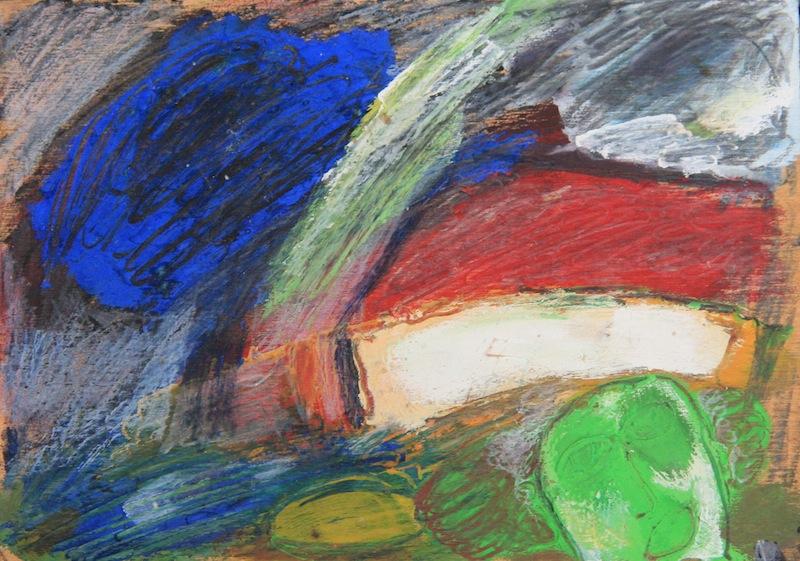 mit dem Fuße gemalt, 1980