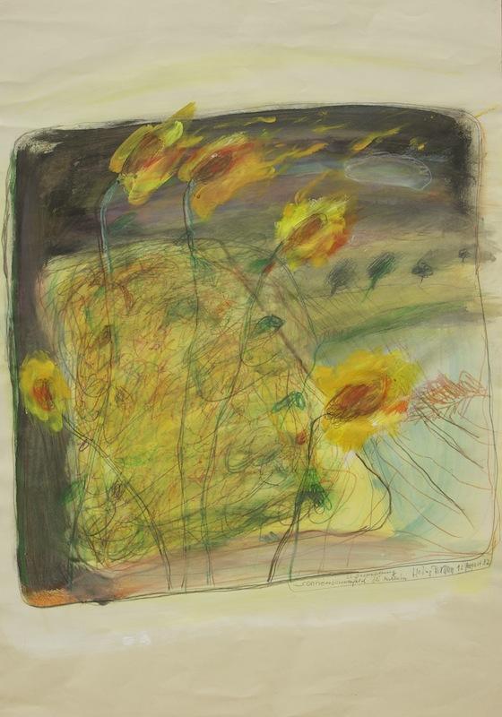 Sonnenblumenfeld beim Buchheim, 1982