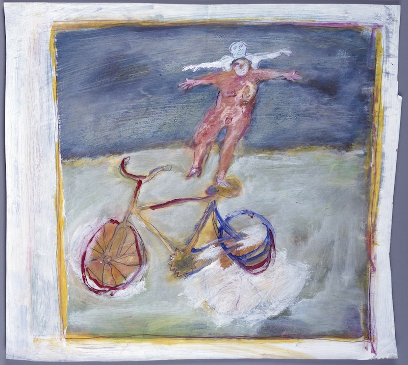 Balance auf Fahrrad, <br /> 1983