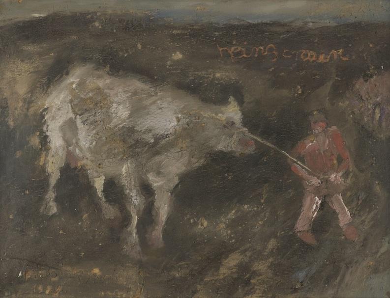Bauer mit Kuh, 1983