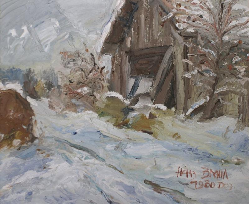 Winterlandschaft, 1980