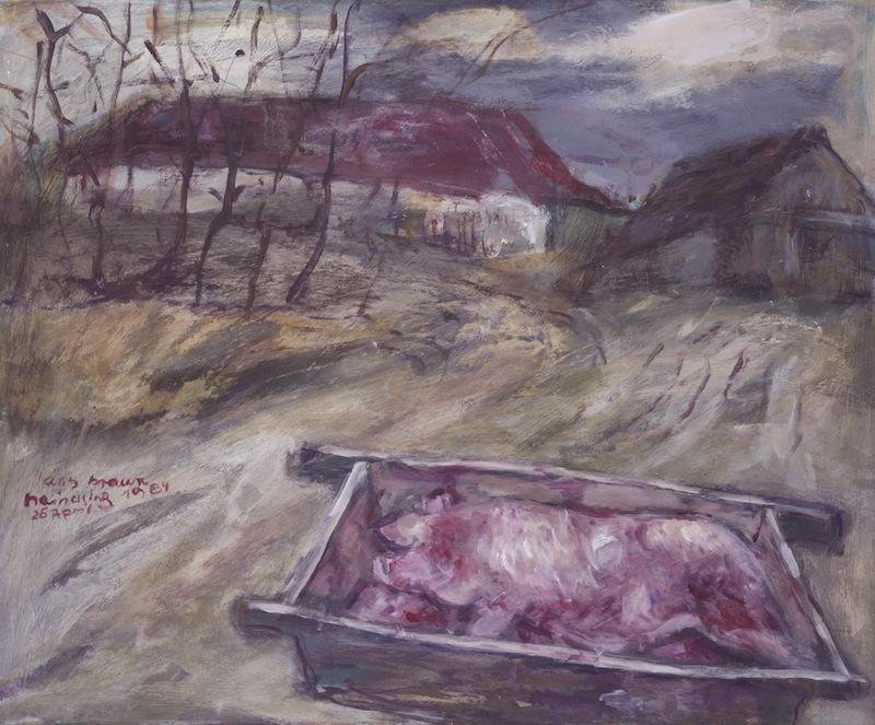 Schweinetrog in<br />Haindling, 1984