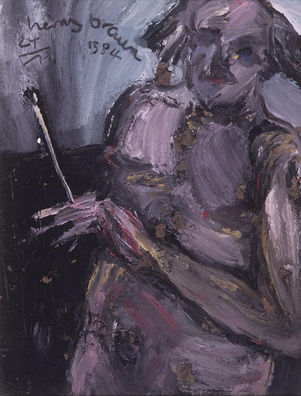 Selbstbildnis mit<br />Pinsel, 1984