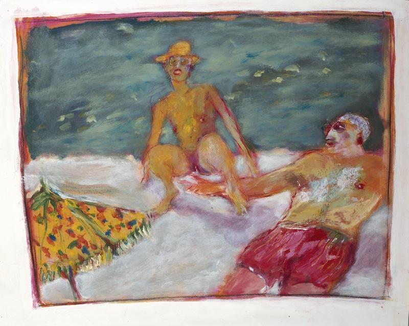 Strandler auf Korsika, <br />1984