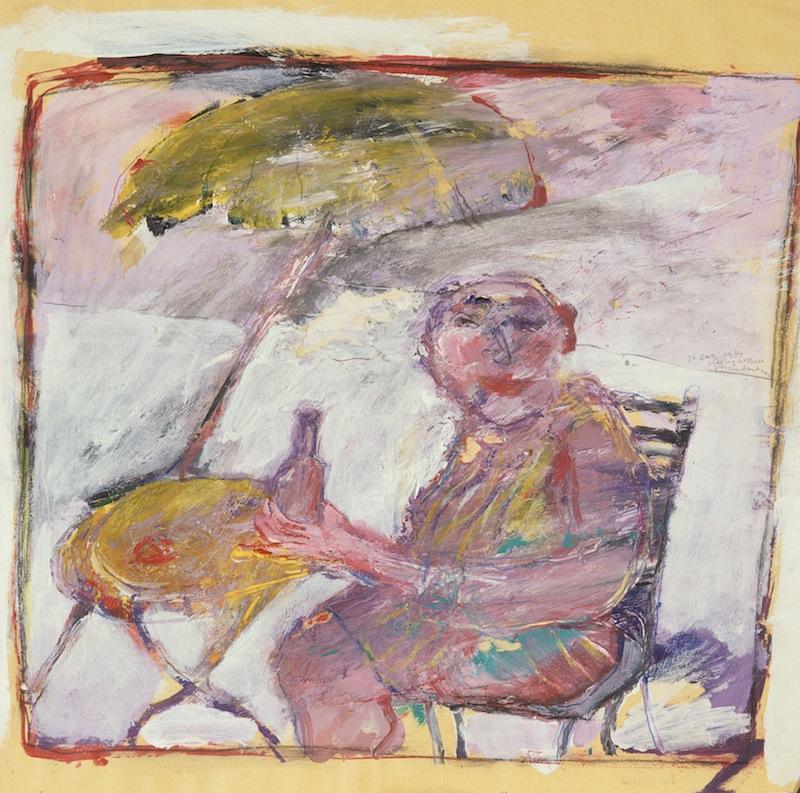 Trinker unter Sonnenschirm, 1984