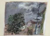 094 Bauer mit Maibaum, 1984