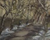 034 Birken im Winter, 1985