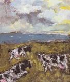 018 Kühe an der Ostsee,<br />1985