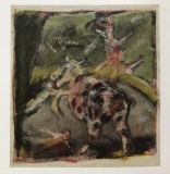 073 Kuh mit Artisten, 1984