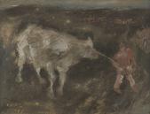 183 Bauer mit Kuh, 1983