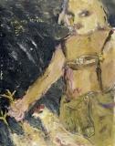 021 Selbstbildnis<br />in Lederhose, 1985