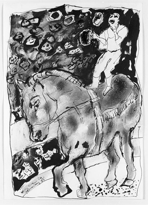Jongleur auf<br />dem Pferd, 1985