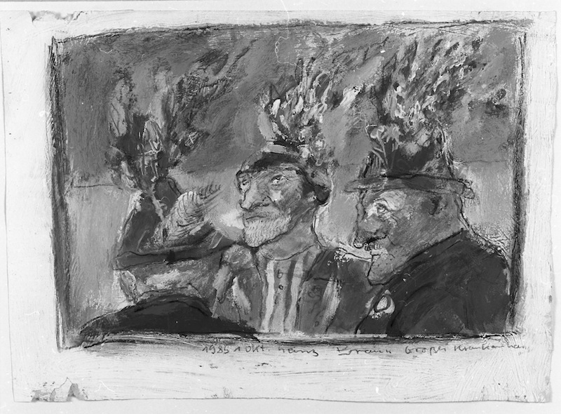 Brennende Hüte,<br />1985