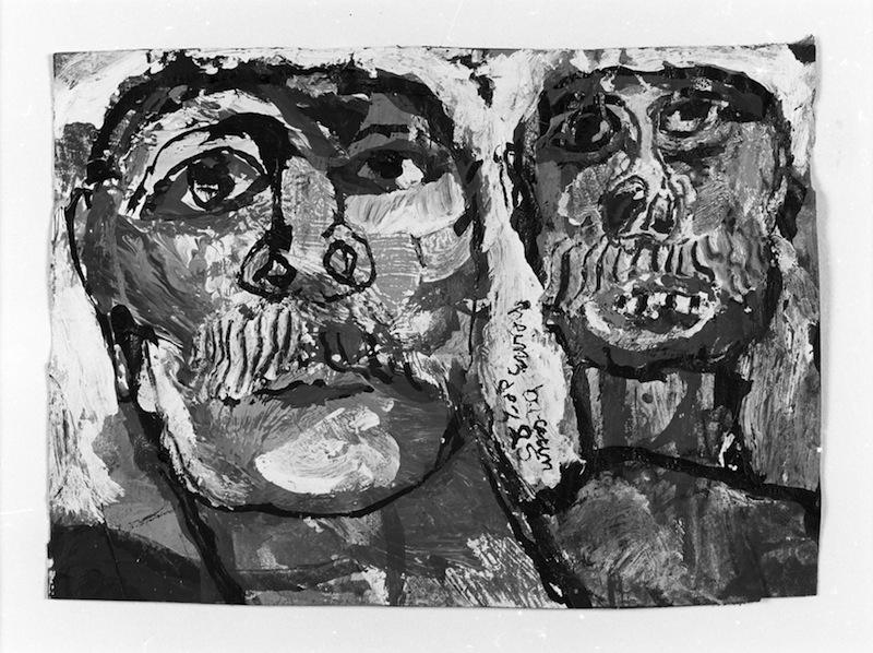 zwei Männerköpfe,<br />1985